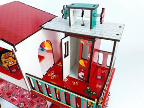 Будиночок кольоровий ігровий з ліфтом. Фото 7