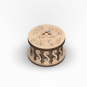 Скринька кругла для декорування. Ажур. Фото 2
