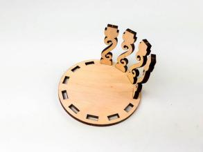 Скринька кругла для декорування. Ажур. Фото 6