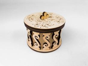 Скринька кругла для декорування. Ажур. Фото 5