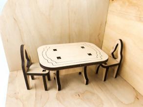 Лялькова кімната Кухня. Дерев'яний 3Д конструктор. Фото 7