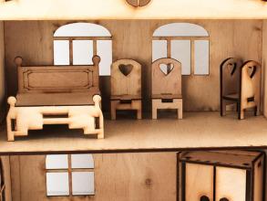 Будиночок іграшковий з ліфтом дерев'яний 3Д конструктор. Фото 2