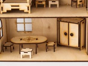 Будиночок іграшковий з ліфтом дерев'яний 3Д конструктор. Фото 3