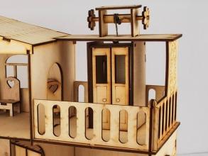Будиночок іграшковий з ліфтом дерев'яний 3Д конструктор. Фото 4