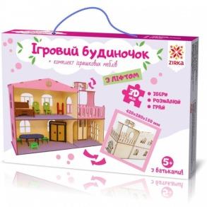 Будиночок іграшковий з ліфтом дерев'яний 3Д конструктор