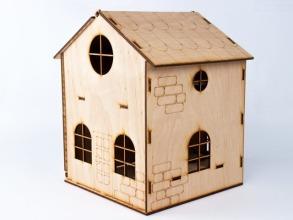 Будиночок іграшковий дерев'яний 3Д конструктор. Фото 2