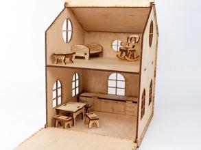 Будиночок іграшковий дерев'яний 3Д конструктор. Фото 3