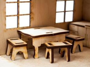 Будиночок іграшковий дерев'яний 3Д конструктор. Фото 6
