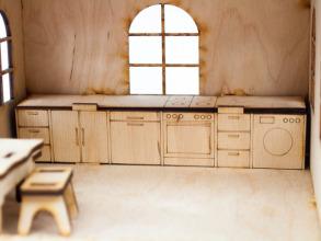 Будиночок іграшковий дерев'яний 3Д конструктор. Фото 4