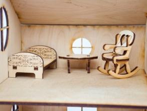 Будиночок іграшковий дерев'яний 3Д конструктор. Фото 5