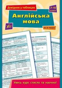 Довідник у таблицях — Англійська мова. 7–11 класи