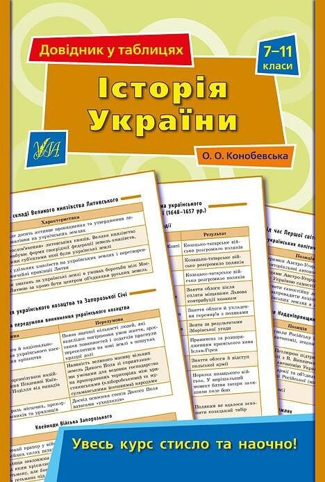 Довідник у таблицях — Історія України. 7–11 класи