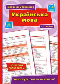 Довідник у таблицях (5-6 класи) — Українська мова. 5–6 класи